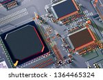 electronic circuit board close... | Shutterstock . vector #1364465324