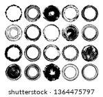 set of round grunge shapes....   Shutterstock .eps vector #1364475797