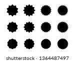 set of vector starburst ... | Shutterstock .eps vector #1364487497