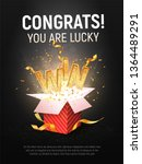 win gold text vector... | Shutterstock .eps vector #1364489291