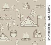 vector creative seamless... | Shutterstock .eps vector #136452047