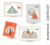 vector abstract post marks for... | Shutterstock .eps vector #136452107