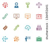 seo   internet marketing icons  ... | Shutterstock .eps vector #136452641