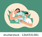 earth day or save earth or love ... | Shutterstock .eps vector #1364531381