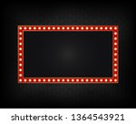 realistic billboard on dark... | Shutterstock .eps vector #1364543921