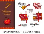 Mexico Holiday Labels Set ...