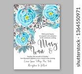 wedding invitation peony rose... | Shutterstock .eps vector #1364550971