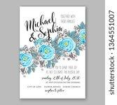 wedding invitation peony rose... | Shutterstock .eps vector #1364551007