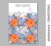 wedding invitation peony rose... | Shutterstock .eps vector #1364551061