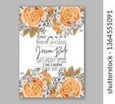 wedding invitation peony rose... | Shutterstock .eps vector #1364551091