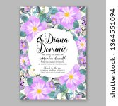 wedding invitation peony rose... | Shutterstock .eps vector #1364551094