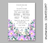 wedding invitation peony rose... | Shutterstock .eps vector #1364551097