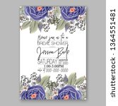 wedding invitation floral peony ... | Shutterstock .eps vector #1364551481