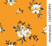 floral seamless pattern | Shutterstock .eps vector #1364552894