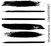 a set of brush strokes of black ... | Shutterstock .eps vector #1364555987