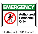 emergency authorized personnel... | Shutterstock .eps vector #1364563631