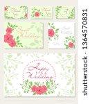 vector set of wedding design... | Shutterstock .eps vector #1364570831