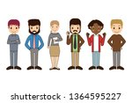 group of working people... | Shutterstock .eps vector #1364595227