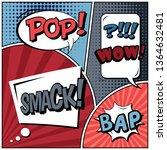 abstract creative concept comic ... | Shutterstock . vector #1364632481