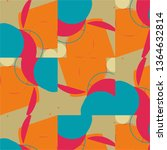 halftone color texture... | Shutterstock . vector #1364632814