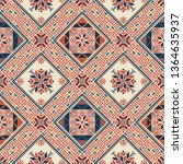 seamless pattern design with... | Shutterstock .eps vector #1364635937