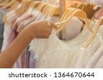 beautiful shopping woman... | Shutterstock . vector #1364670644