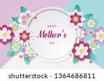 happy mothers day background... | Shutterstock .eps vector #1364686811
