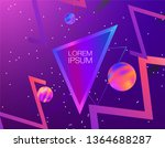 abstract holographic background.... | Shutterstock .eps vector #1364688287