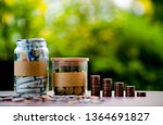 close up images of money and... | Shutterstock . vector #1364691827