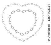 heart shaped chain frame.... | Shutterstock .eps vector #1364703197