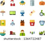 color flat icon set   father's... | Shutterstock .eps vector #1364722487