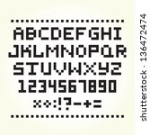 Pixel Font Isolated Vector Set