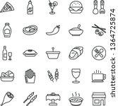 thin line vector icon set  ... | Shutterstock .eps vector #1364725874