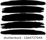 grunge paint roller . vector... | Shutterstock .eps vector #1364727044
