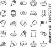 thin line vector icon set  ... | Shutterstock .eps vector #1364727734