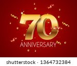 template logo 70 years... | Shutterstock . vector #1364732384