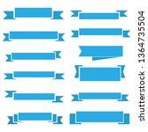 set of blue ribbon banner icon... | Shutterstock .eps vector #1364735504