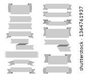 set of ribbon banner arch... | Shutterstock .eps vector #1364761937