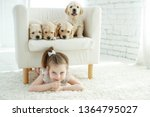 child with a dog  | Shutterstock . vector #1364795027
