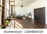spacious studio apartment... | Shutterstock . vector #1364806514