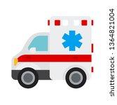 ambulance emoji vector | Shutterstock .eps vector #1364821004