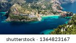 incredible sunny view on... | Shutterstock . vector #1364823167