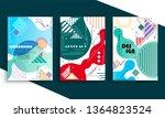 stock vector covers templates... | Shutterstock .eps vector #1364823524