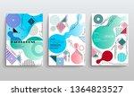 stock vector covers templates... | Shutterstock .eps vector #1364823527