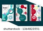 stock vector covers templates... | Shutterstock .eps vector #1364823551