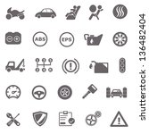 automotive basic icons | Shutterstock .eps vector #136482404
