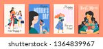 happy mothers day. vector... | Shutterstock .eps vector #1364839967