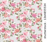 seamless floral pattern with... | Shutterstock .eps vector #1364855534