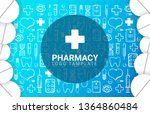 pharmacy and medical banner... | Shutterstock .eps vector #1364860484