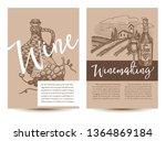 wine and winemaking set of... | Shutterstock .eps vector #1364869184